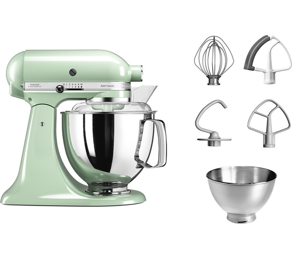 buy kitchenaid artisan 5ksm175bpt stand mixer pistachio free delivery currys. Black Bedroom Furniture Sets. Home Design Ideas