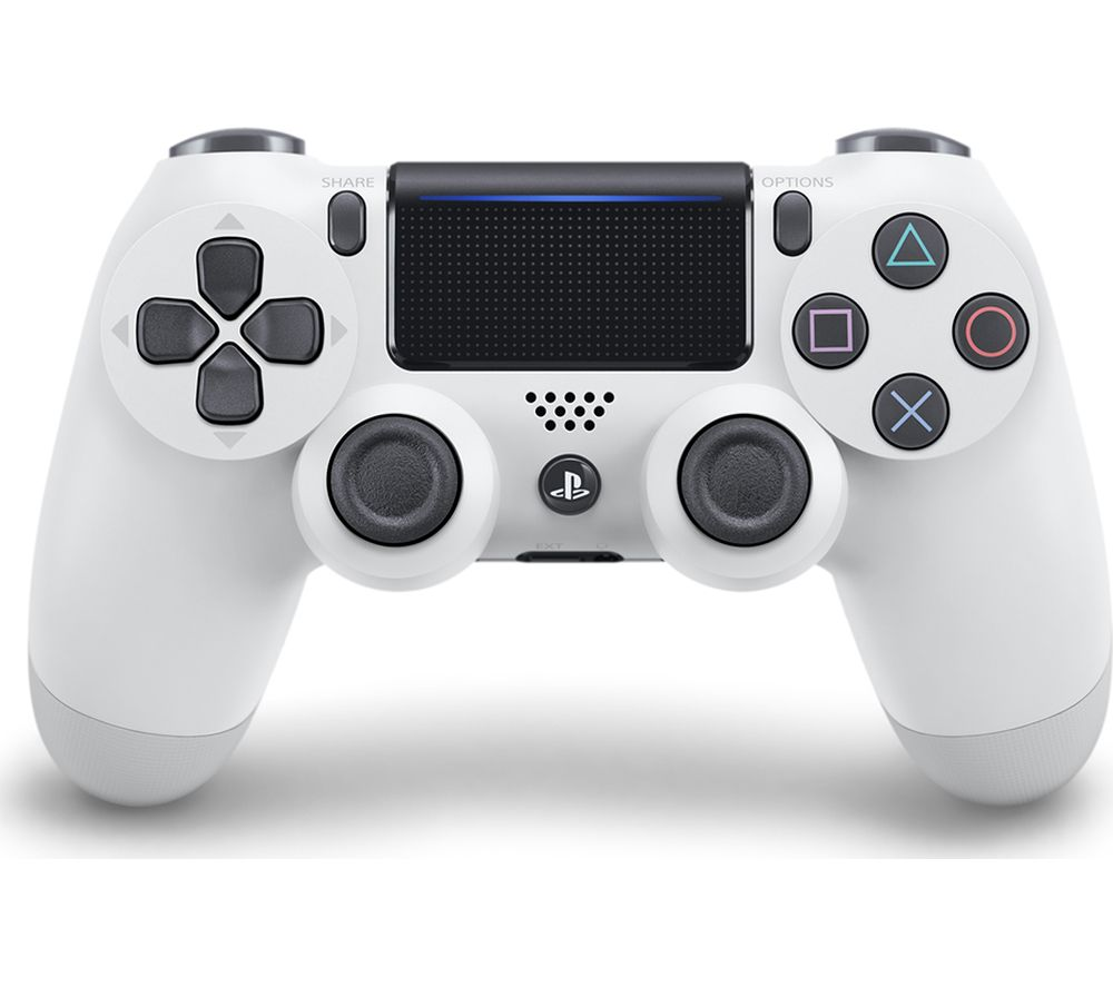 PLAYSTATION 4 DualShock 4 V2 Wireless Controller - White, White