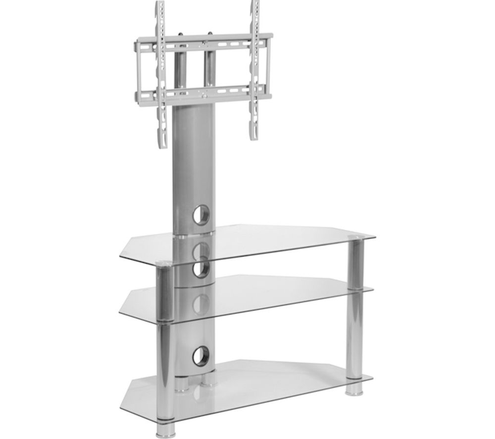 MMT RIO CC32 TV Stand with Bracket - Clear Glass