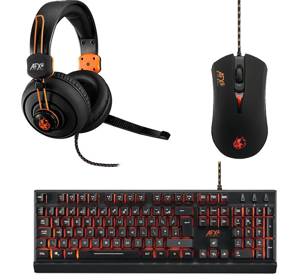 AFX Keyboard, Mouse & Headset Gaming Bundle
