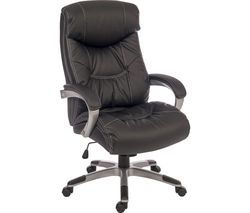 TEKNIK Siesta 6916 Leather Reclining Executive Chair - Black
