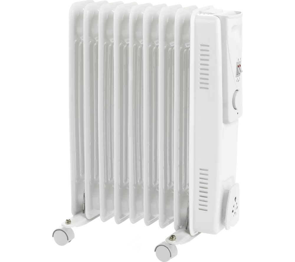 STATUS OFH9-2000W1PKB Portable Oil-Filled Radiator - Grey, Grey
