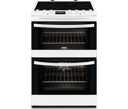 ZANUSSI ZCV68310WA 60 cm Electric Ceramic Cooker - Black & White