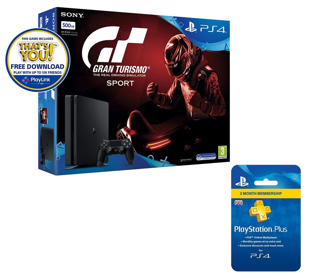logitech playstation 4 slim gran turismo sport 3 months. Black Bedroom Furniture Sets. Home Design Ideas