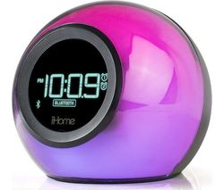 IHOME iBT29 Colour Changing FM Bluetooth Clock Radio