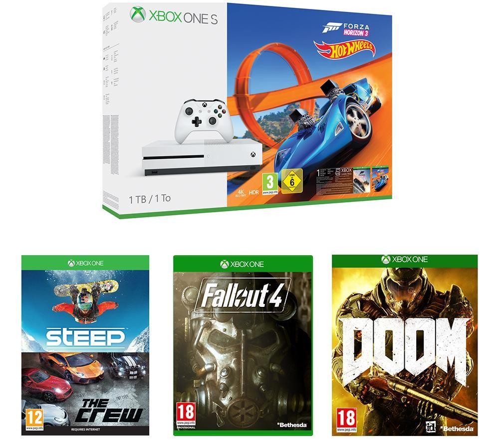 MICROSOFT Xbox One S & Games Bundle