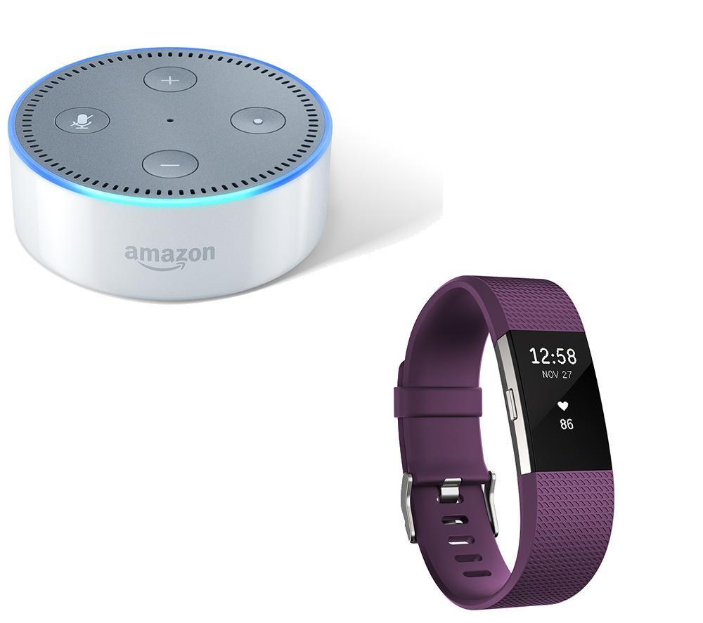 Buy FITBIT Charge 2 & Amazon Echo Dot Bundle