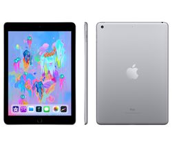 "APPLE 9.7"" iPad - 128 GB, Space Grey (2018)"
