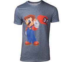 NINTENDO Super Mario Odyssey Mario & Cappy T-Shirt - Medium, Grey