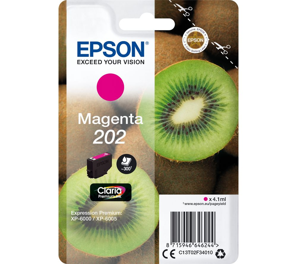 EPSON 202 Kiwi Magenta Ink Cartridge, Magenta