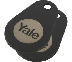 YALE Connected Key Tag - Twin Pack, Black