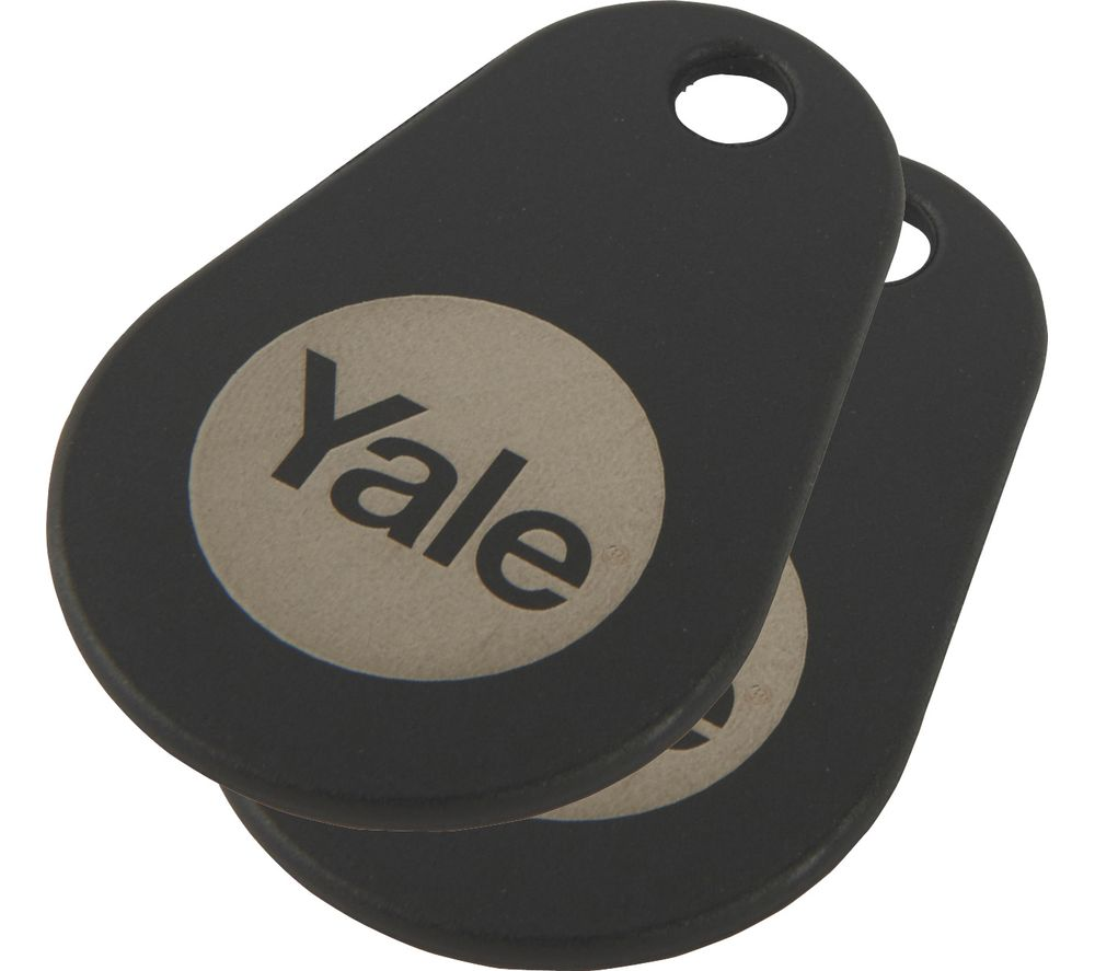 Image of YALE Connected Key Tag - Twin Pack, Black, Black