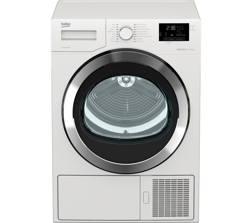 Beko Tumble Dryer DHX93460W 9 kg Heat Pump  - White, White