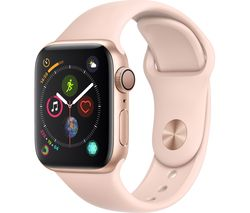 APPLE Watch Series 4 - Gold & Pink Sports Band, 40 mm