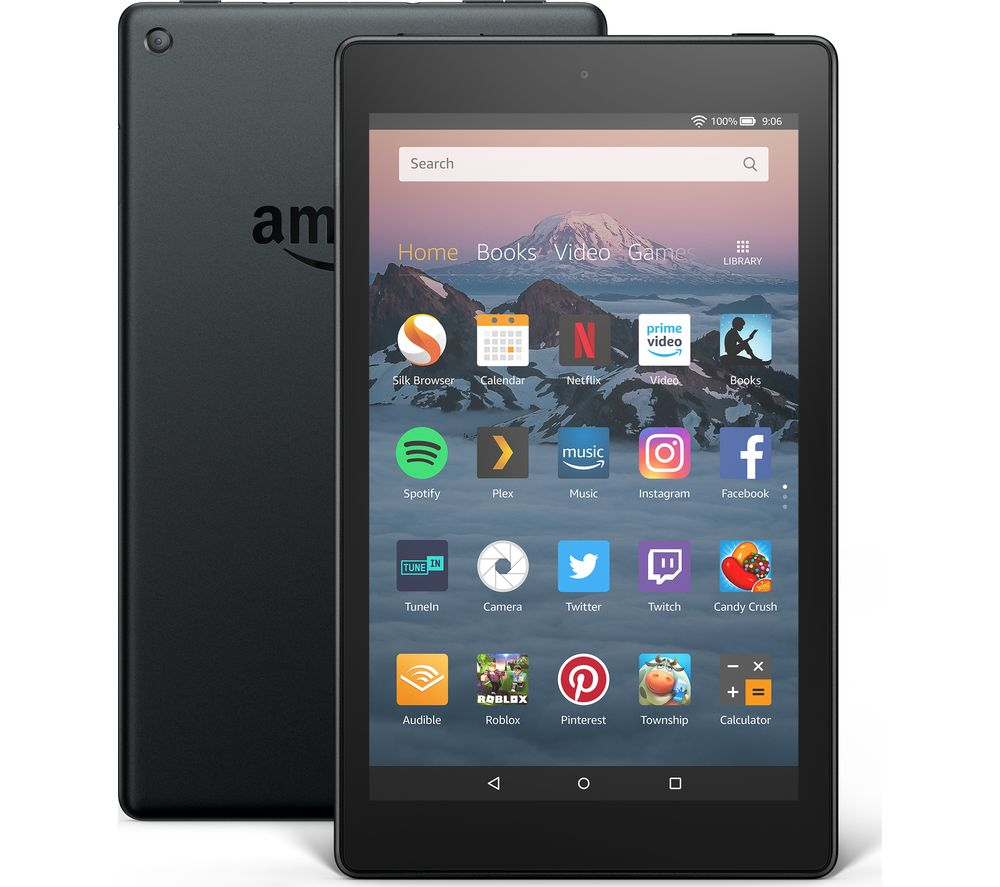Image of AMAZON Fire HD 8 Tablet (2018) - 32 GB, Black, Black
