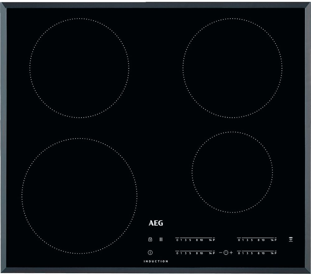 Image of AEG IKB64401FB Electric Induction Hob - Black, Black