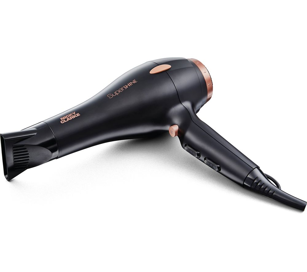 Image of NICKY CLARKE SuperShine AC NHD176 Hair Dryer - Black, Black