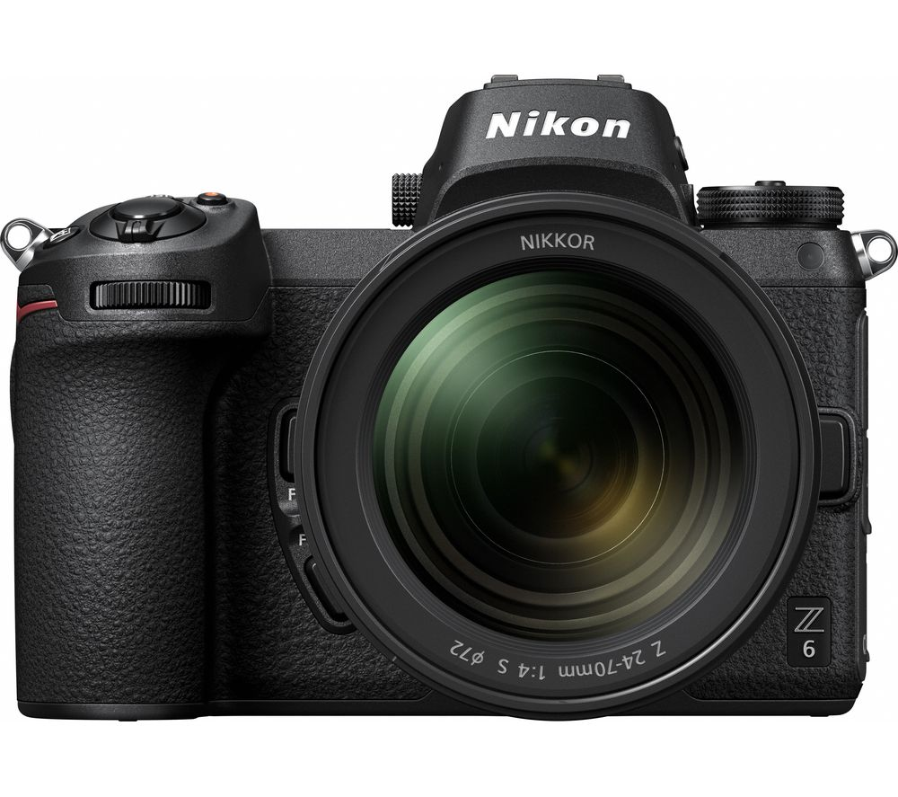 NIKON Z 6 Mirrorless Camera with NIKKOR Z 24–70 mm f/4 S Lens & FTZ Mount Adapter