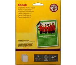 "Image of KODAK 4 x 6"" Magnetic Photo Paper - 5 Sheets"