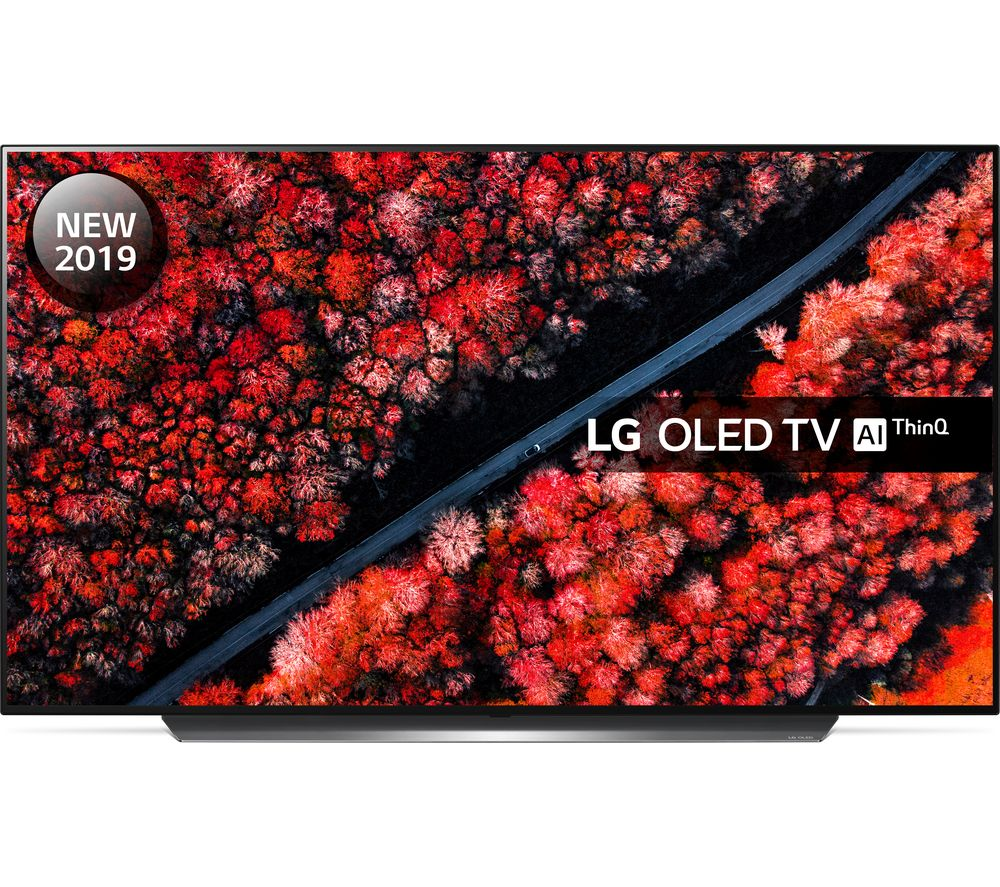 "77"" LG OLED77C9PLA Smart 4K Ultra HD HDR OLED TV, Black"