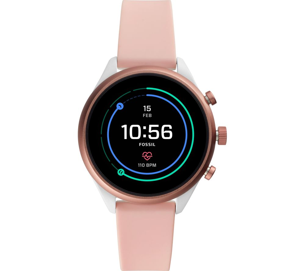 FOSSIL Sport FTW6022 Smartwatch - Pink, 41 mm