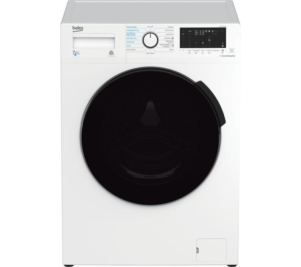WDB7425R2W Bluetooth 7 kg Washer Dryer - White, White