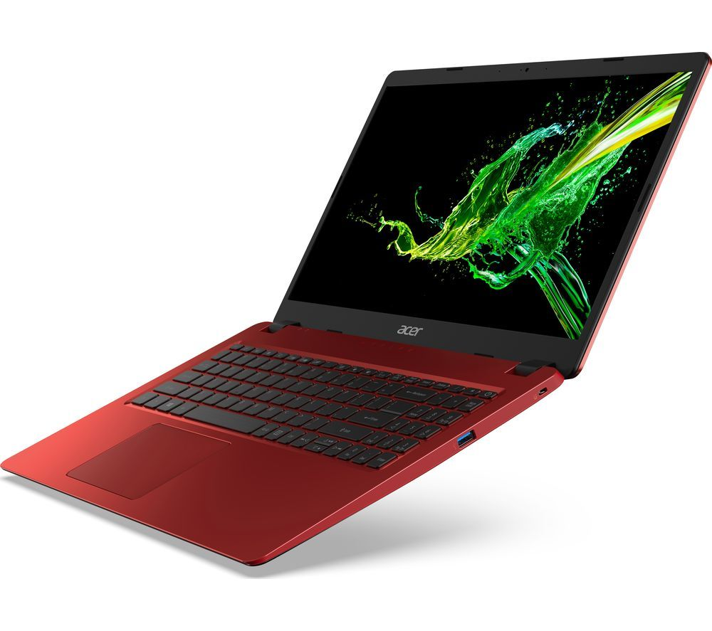 "Image of ACER Aspire 3 A315-42 15.6"" AMD Ryzen 3 Laptop - 128 GB SSD, Red, Red"