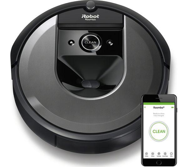 Image of IROBOT Roomba I7158 Robot Vacuum Cleaner - Black