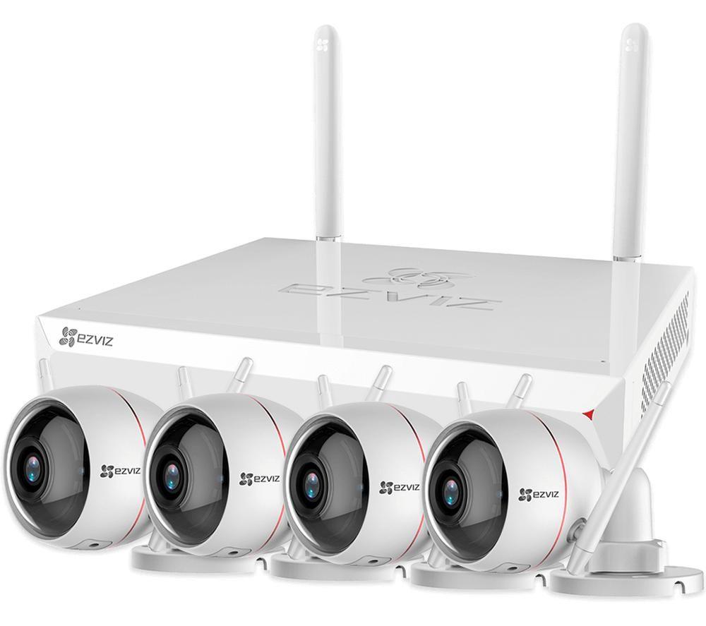 Image of EZVIZ ezWireLess Full HD 1080p WiFi Security Camera and X5C ezNVR Kit
