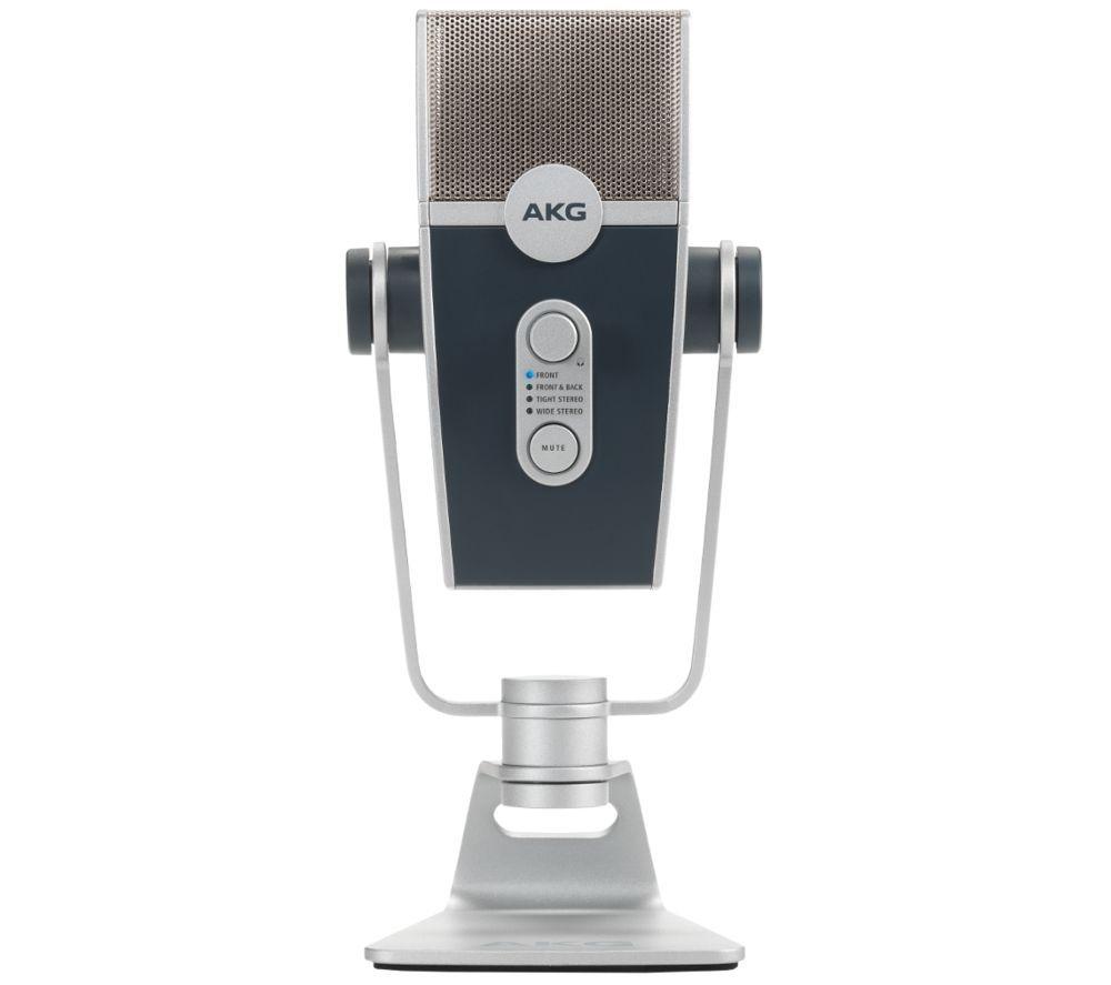 AKG Lyra Ultra-HD Multimode USB Microphone - Silver, Silver