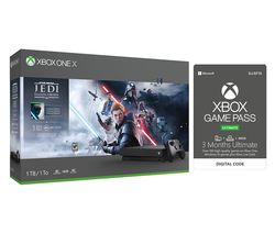 MICROSOFT Xbox One X, Star Wars Jedi: Fallen Order Deluxe Edition & Xbox One Game Pass Bundle