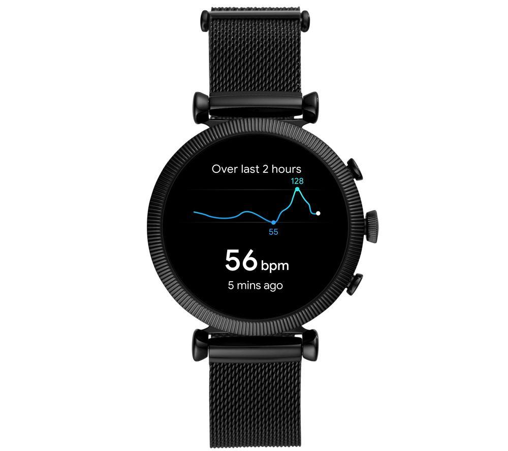 FOSSIL Sloan HR FTW6050 Smartwatch - Black, 40 mm