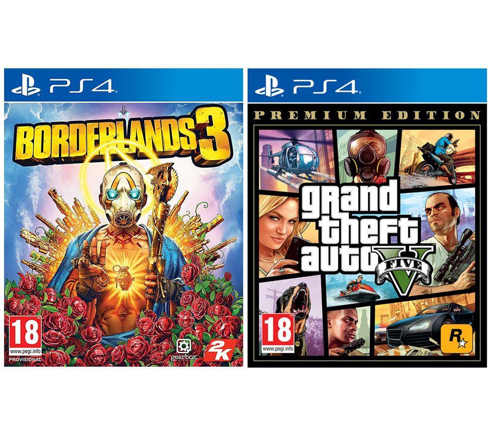 Image of PS4 Borderlands 3 & Grand Theft Auto V: Premium Edition Bundle