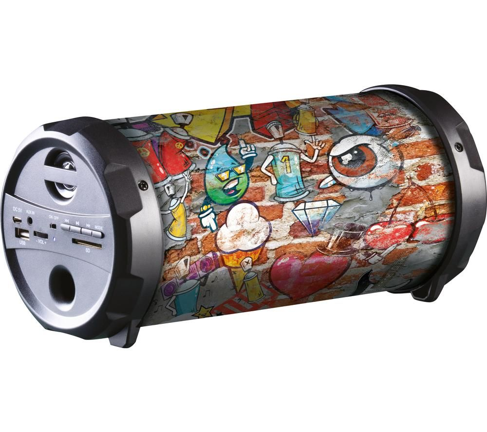Image of DAEWOO AVS1351 Portable Bluetooth Speaker - Graffiti