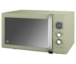 SWAN Retro SM22085GN Solo Microwave - Green Best Price, Cheapest Prices