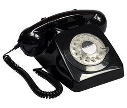 746 Rotary Corded Phone - Black
