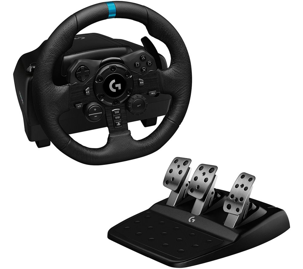 LOGITECH G923 Racing Wheel & Pedals - PS4 & PC, Black