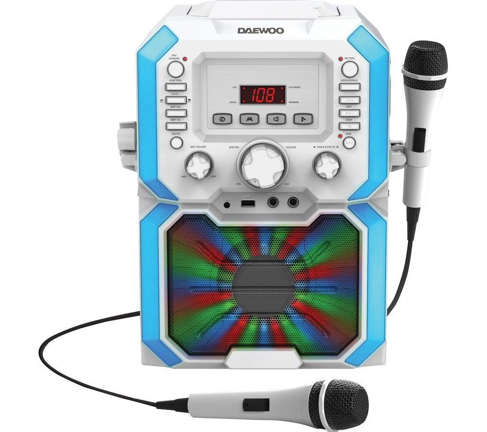DAEWOO AVS1492W Bluetooth Karaoke System - White, White