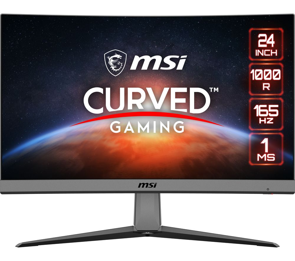 "Image of MSI Artymis MAG242C Full HD 23.6"" Curved LED Gaming Monitor - Black, Black"