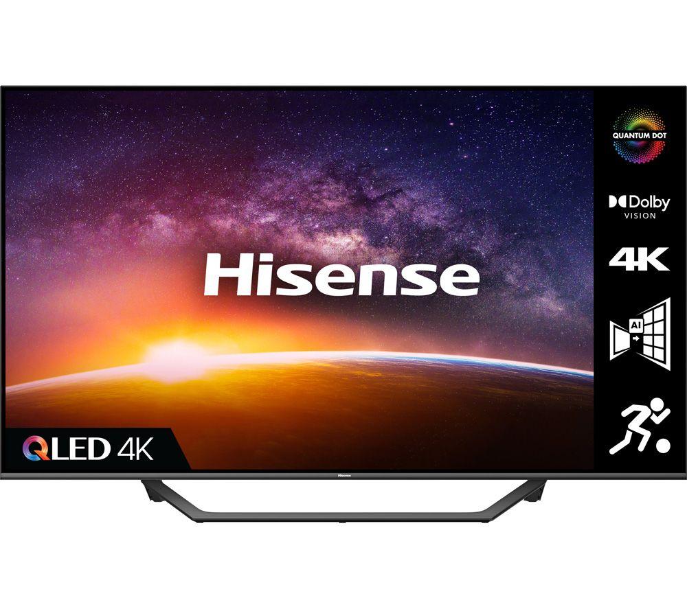 55 HISENSE 55A7GQTUK  Smart 4K Ultra HD HDR LED TV with Alexa & Google Assistant