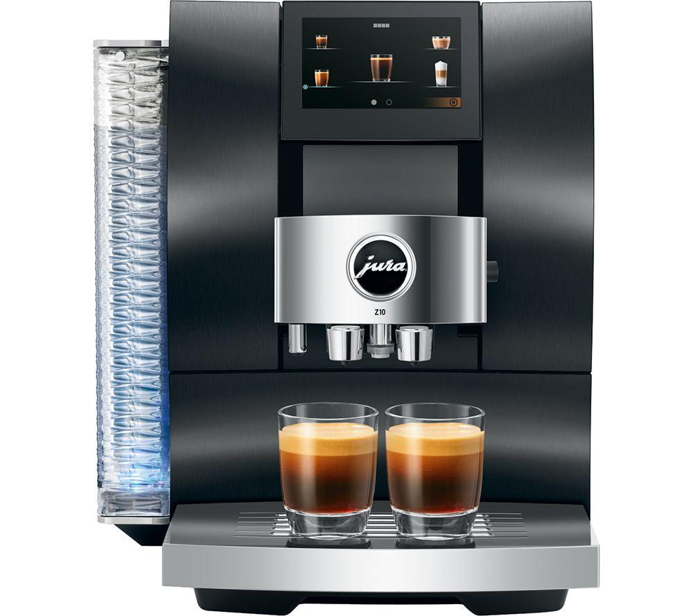 JURA Z10 15423 Smart Bean to Cup Coffee Machine - Black, Black