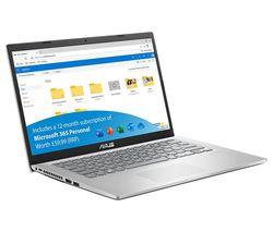 "VivoBook F415 14"" Laptop - Intel® Pentium® Gold, 128 GB SSD, Silver"