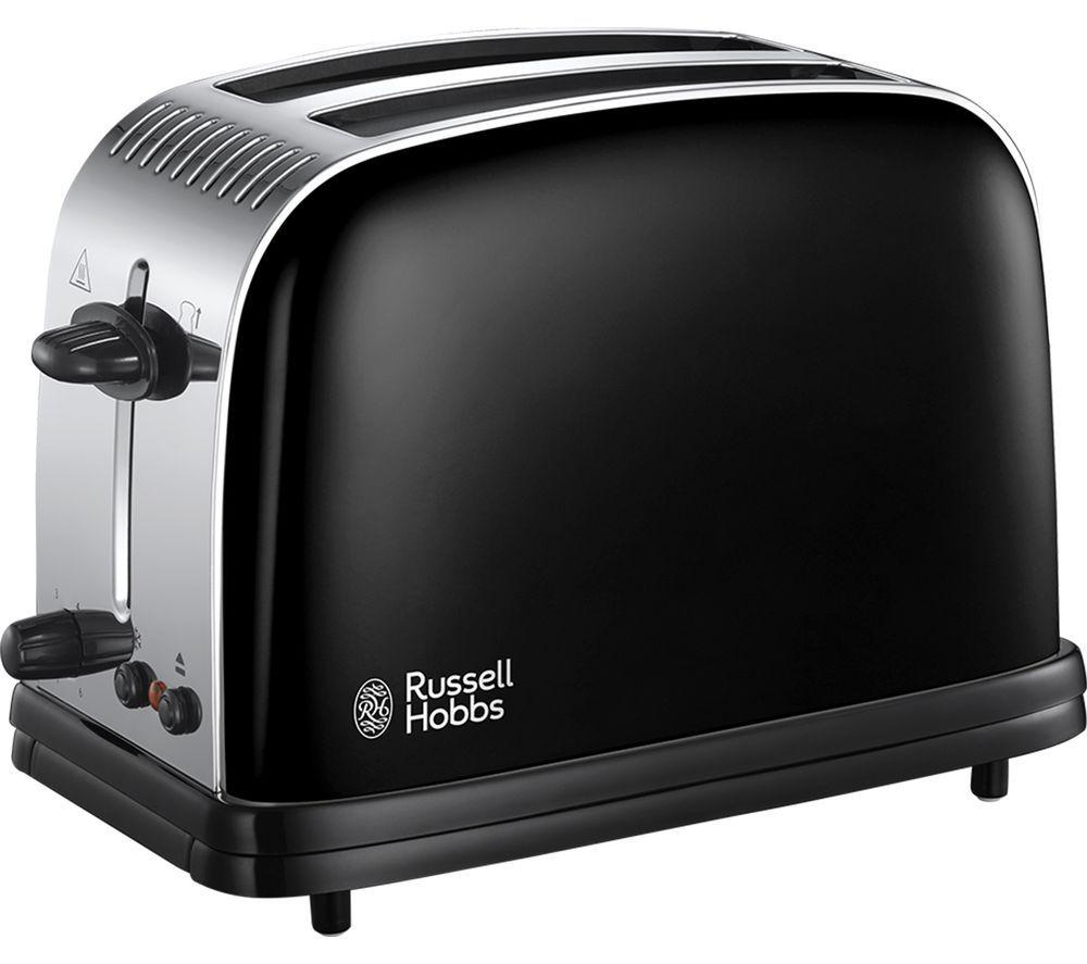 RUSSELL HOBBS 23331 2-Slice Toaster - Black, Black