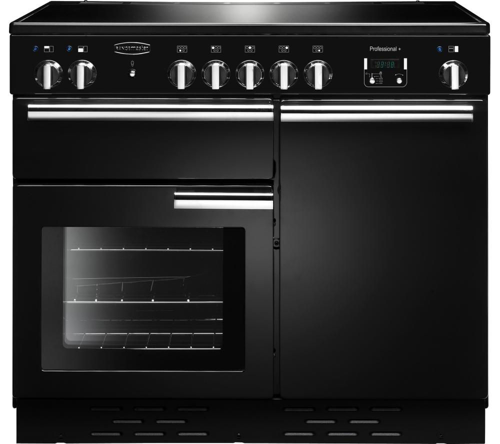 RANGEMASTER Professional+ 100 Electric Induction Range Cooker - Black & Chrome