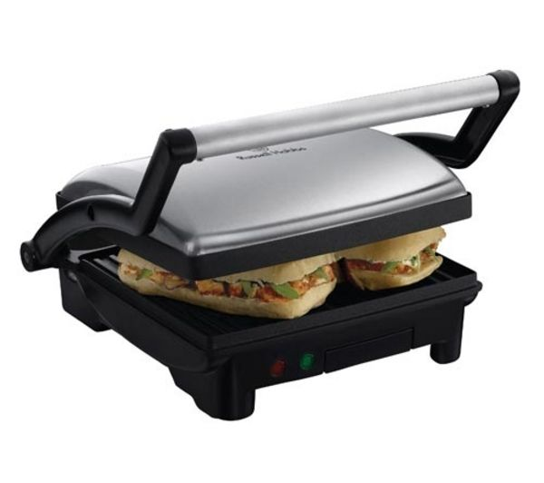 RUSSELL HOBBS 17888 3-in-1 Panini Press, Griddle & Health Grill - Silver