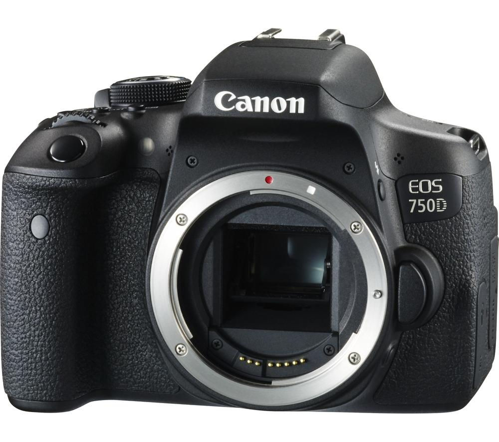 CANON EOS 750D DSLR Camera - Black, Body Only