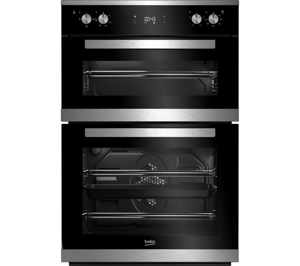BEKO Select BXTF25300X Electric Built-under Double Oven - Stainless Steel + HCMW64225SX Gas Hob - Stainless Steel