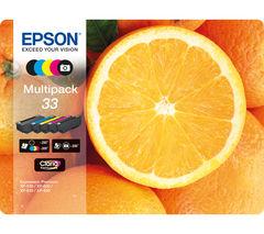 No. 33 Oranges 5-Colour Ink Cartridges - Multipack