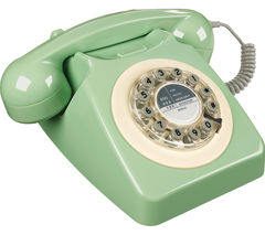 Image of WILD & WOLF 746 Corded Phone - Swedish Green