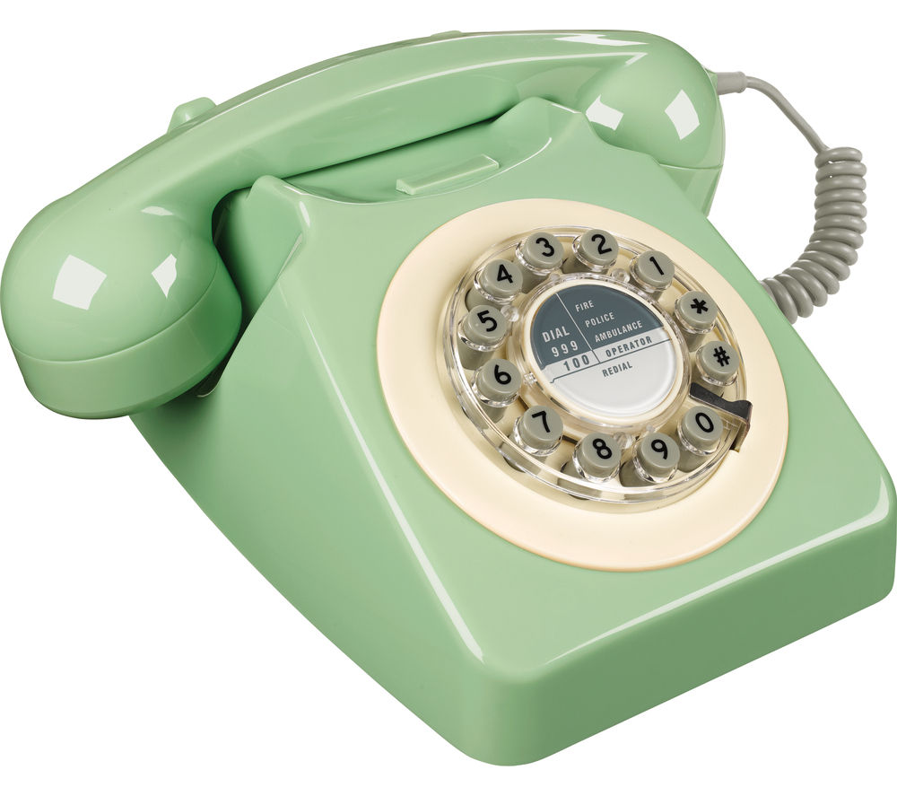 Image of WILD & WOLF 746 Corded Phone - Swedish Green, Green